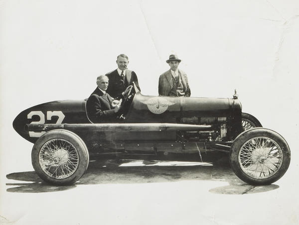 Barney Oldfield And Henry Ford First Super Speedway