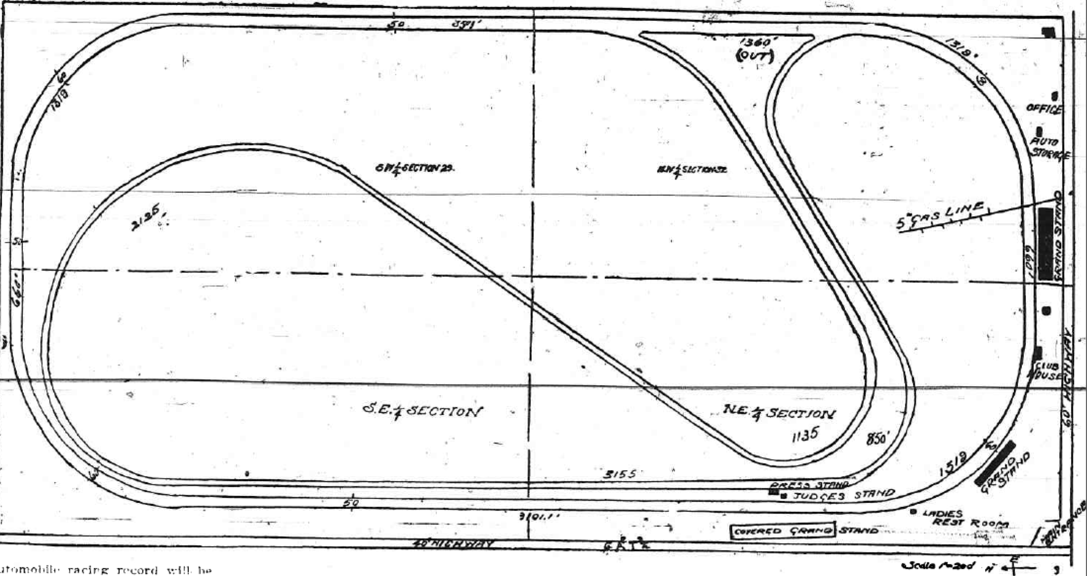 Blueprint of ims first super speedway imsconstructionplan040409 malvernweather Image collections